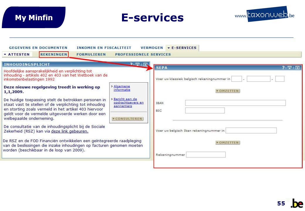E-services My Minfin