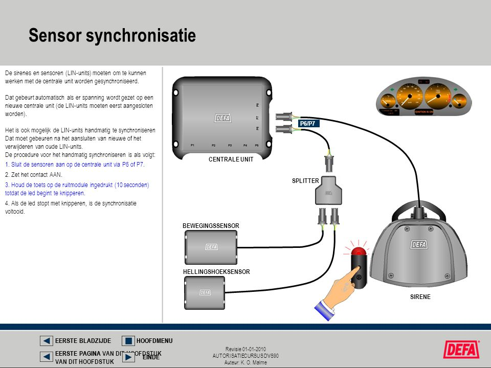 Sensor synchronisatie