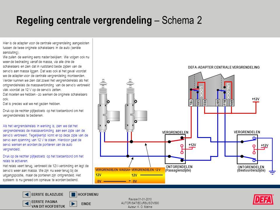 Regeling centrale vergrendeling – Schema 2