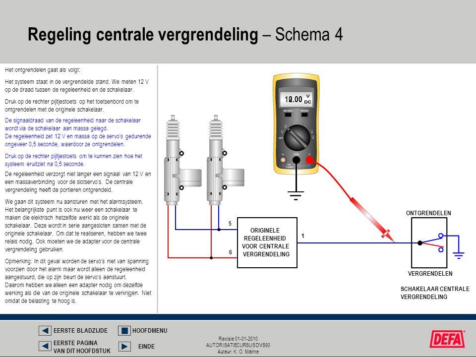 Regeling centrale vergrendeling – Schema 4
