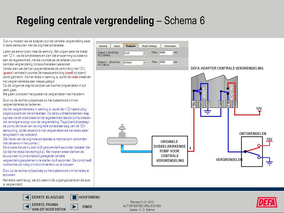 Regeling centrale vergrendeling – Schema 6