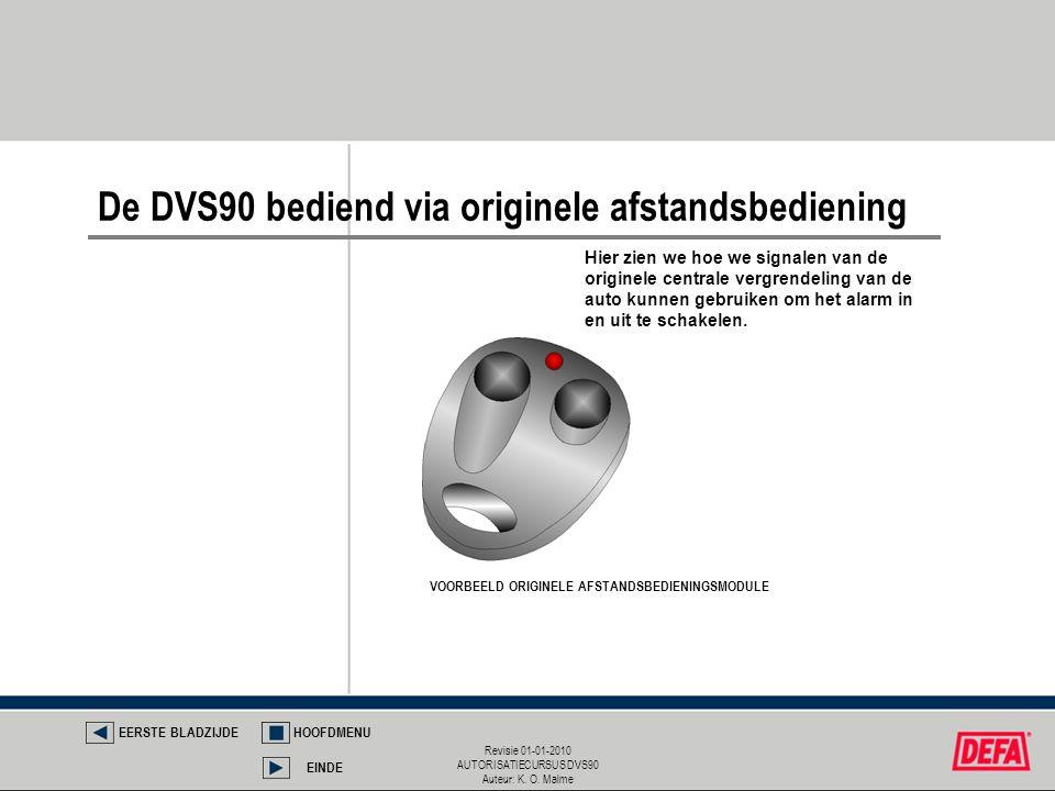 De DVS90 bediend via originele afstandsbediening