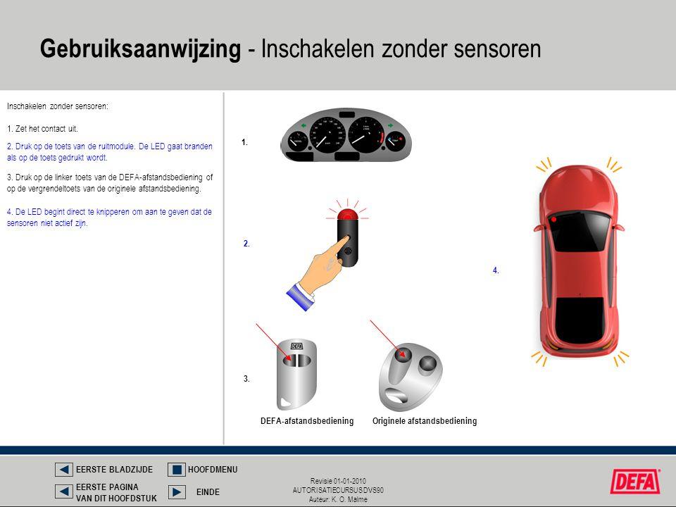 Gebruiksaanwijzing - Inschakelen zonder sensoren