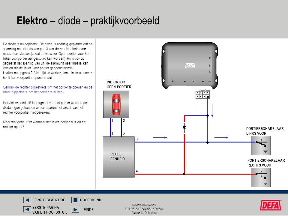 Elektro – diode – praktijkvoorbeeld