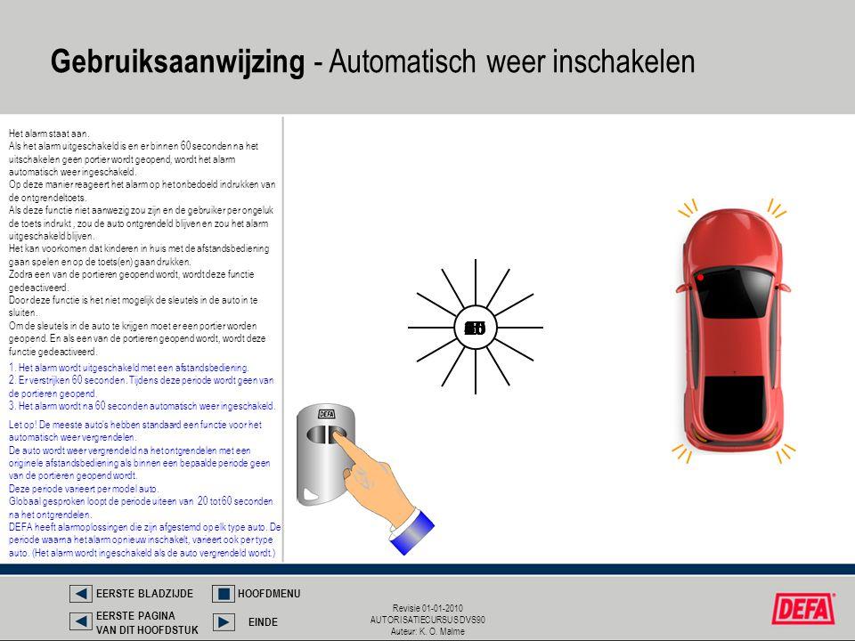 Gebruiksaanwijzing - Automatisch weer inschakelen