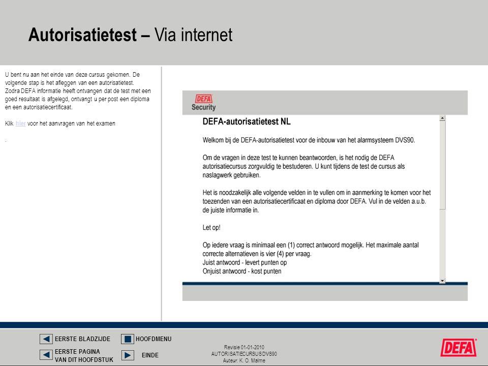 Autorisatietest – Via internet