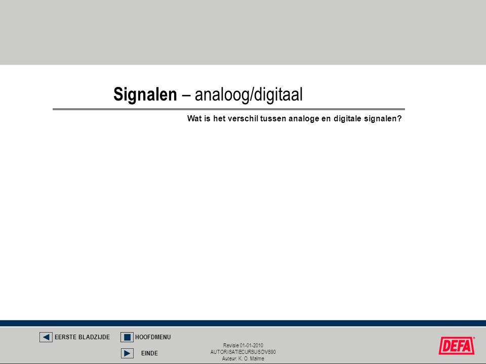 Signalen – analoog/digitaal