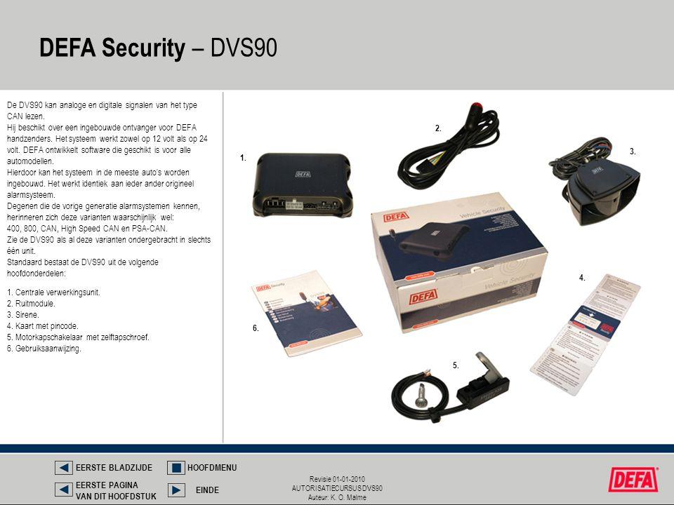 DEFA Security – DVS90 De DVS90 kan analoge en digitale signalen van het type CAN lezen.