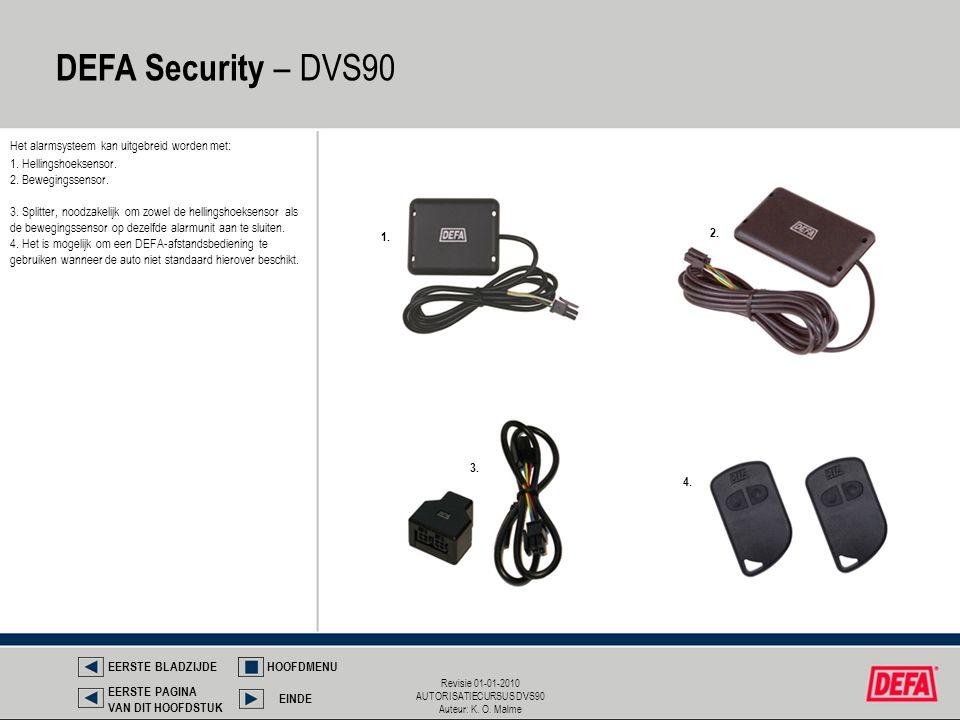 DEFA Security – DVS90 Het alarmsysteem kan uitgebreid worden met: