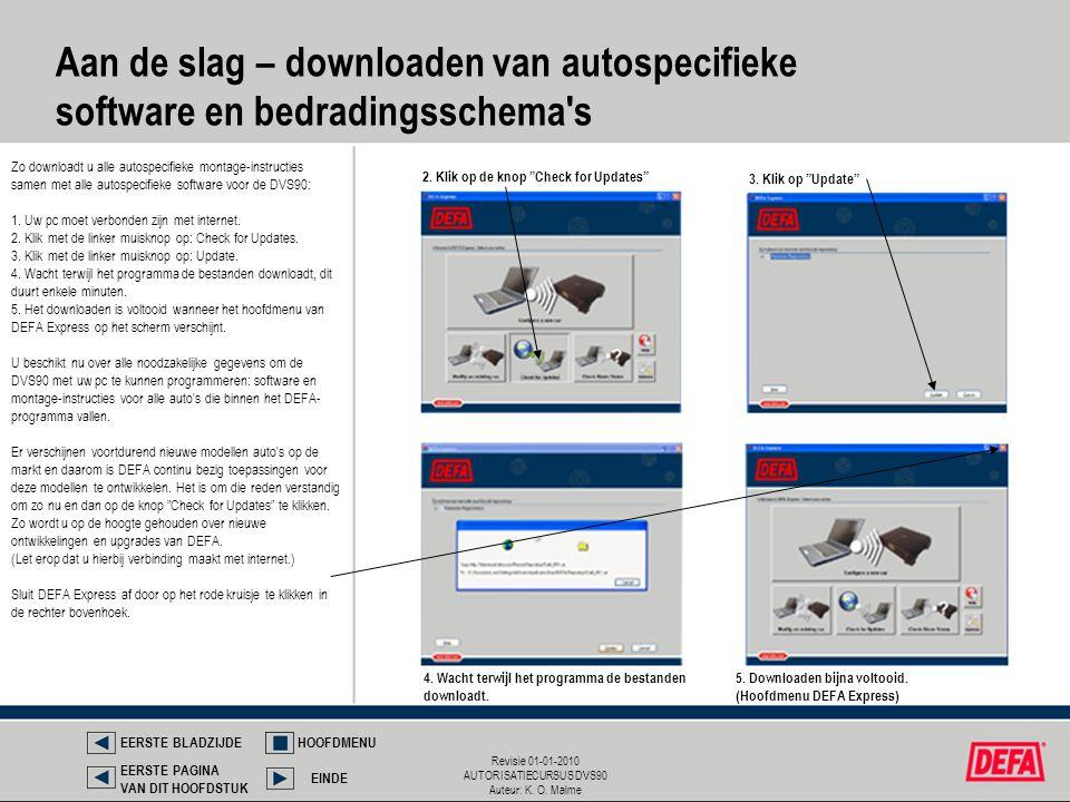 Aan de slag – downloaden van autospecifieke software en bedradingsschema s