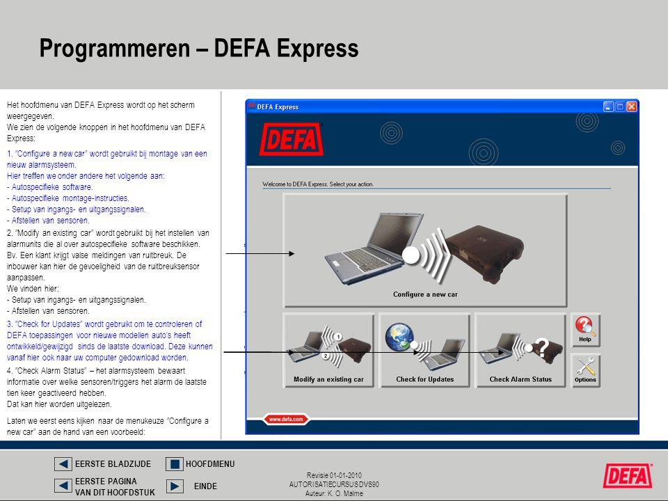 Programmeren – DEFA Express