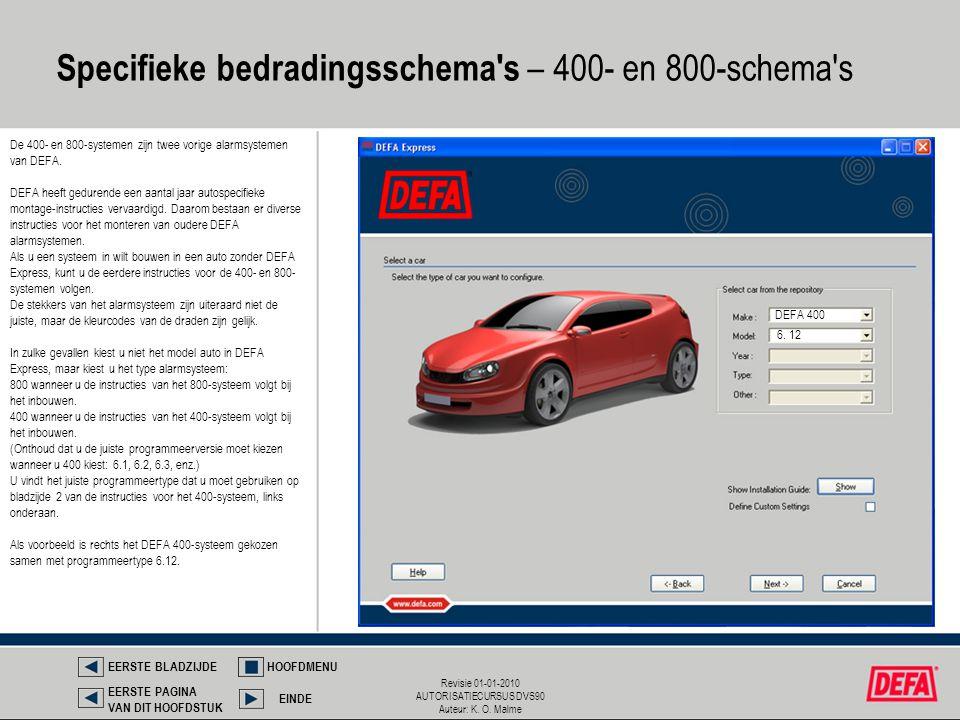 Specifieke bedradingsschema s – 400- en 800-schema s