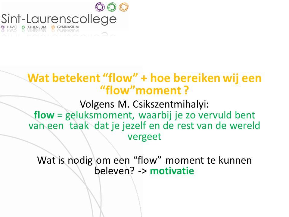 Wat betekent flow + hoe bereiken wij een flow moment