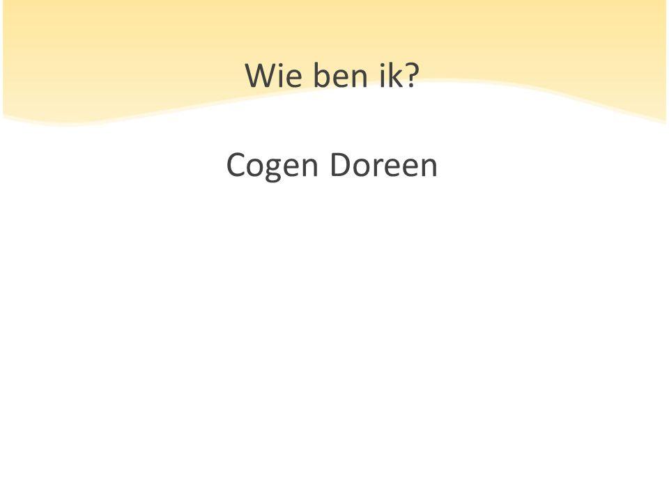 Wie ben ik Cogen Doreen