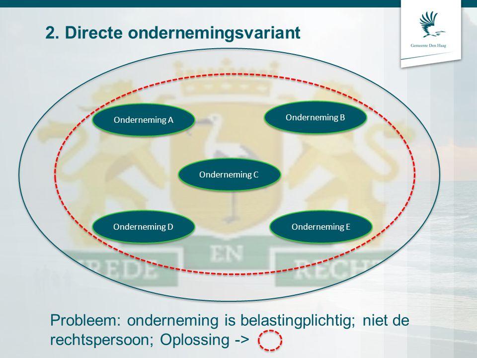 2. Directe ondernemingsvariant