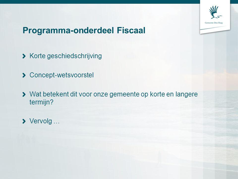 Programma-onderdeel Fiscaal