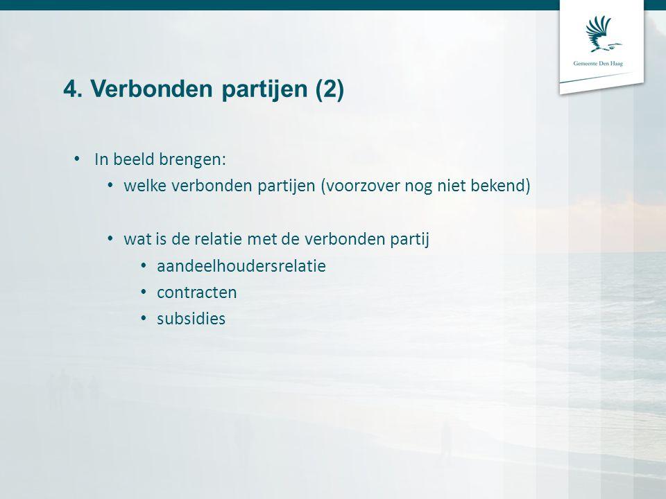 4. Verbonden partijen (2) In beeld brengen: