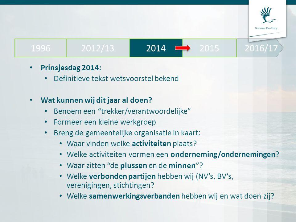 2016/17 2012/13. 2014. 2015. 1996. Prinsjesdag 2014: Definitieve tekst wetsvoorstel bekend. Wat kunnen wij dit jaar al doen