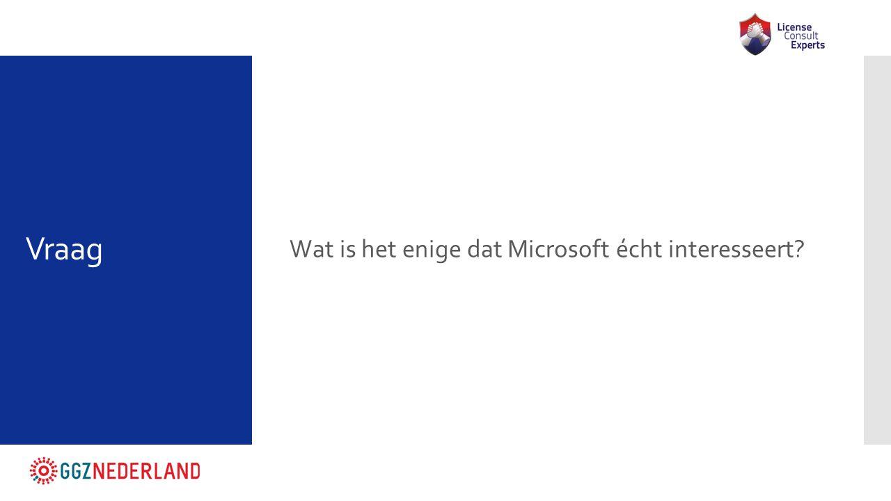Wat is het enige dat Microsoft écht interesseert