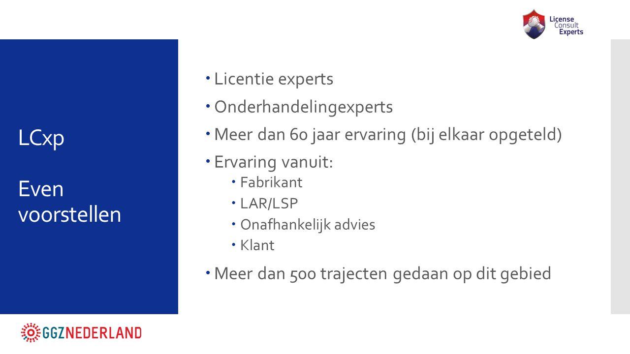 LCxp Even voorstellen Licentie experts Onderhandelingexperts