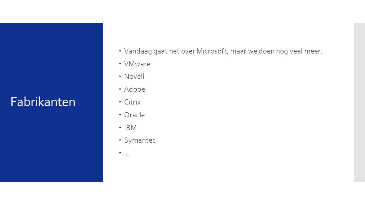 Vandaag gaat het over Microsoft, maar we doen nog veel meer: