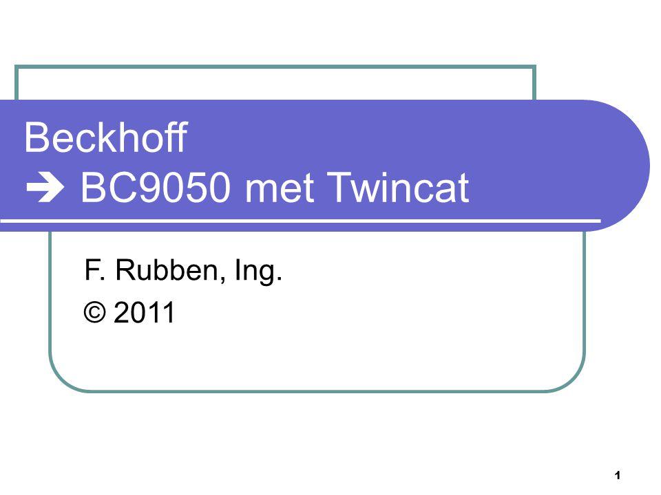 Beckhoff  BC9050 met Twincat