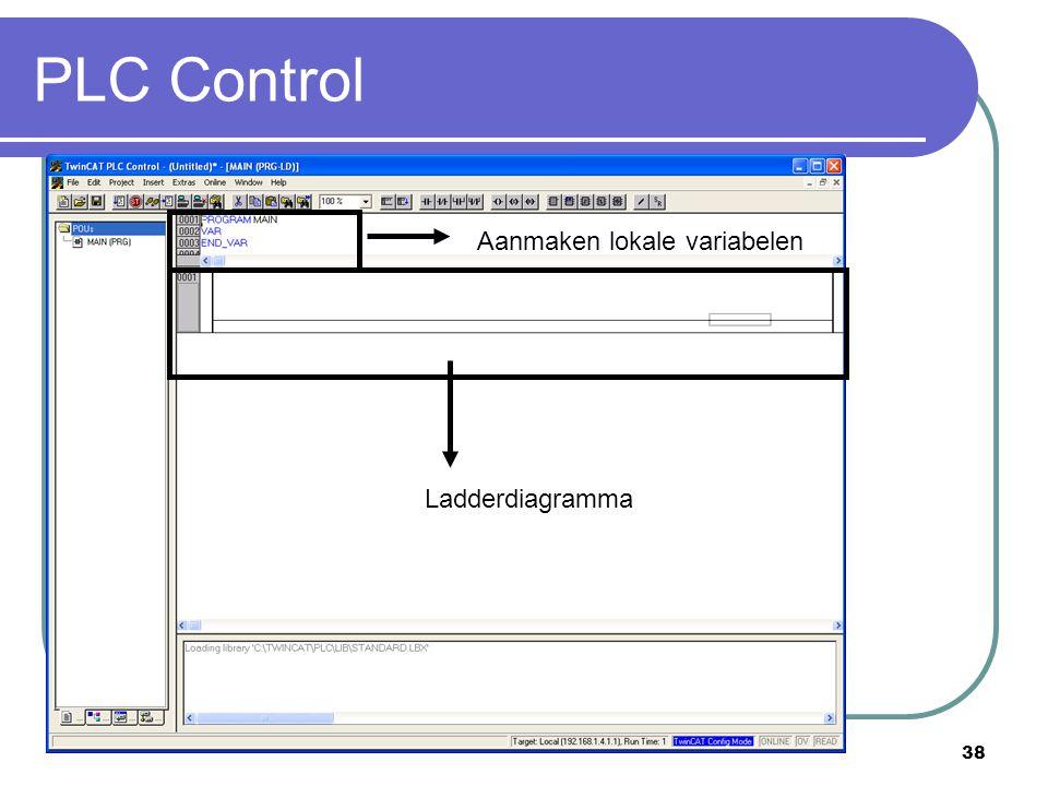 PLC Control Aanmaken lokale variabelen Ladderdiagramma
