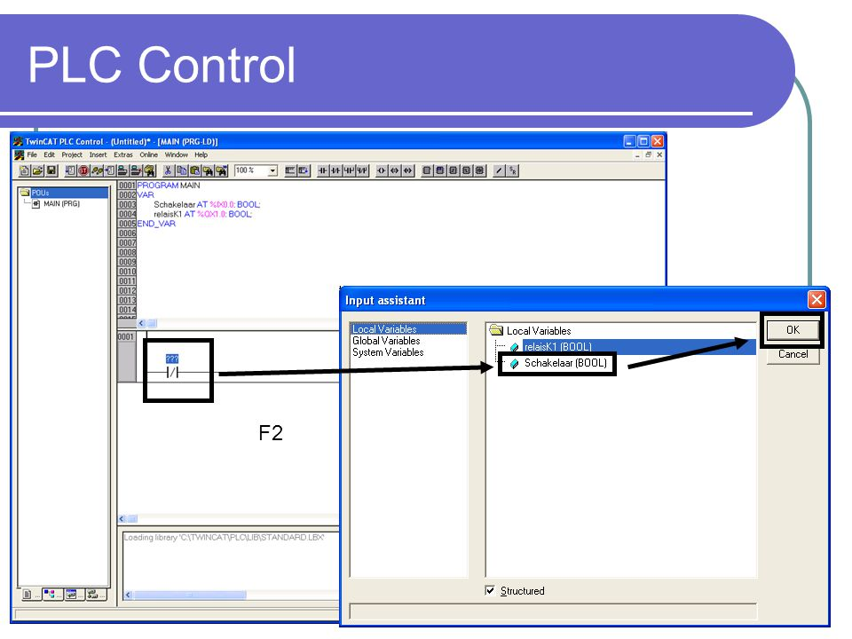 PLC Control F2