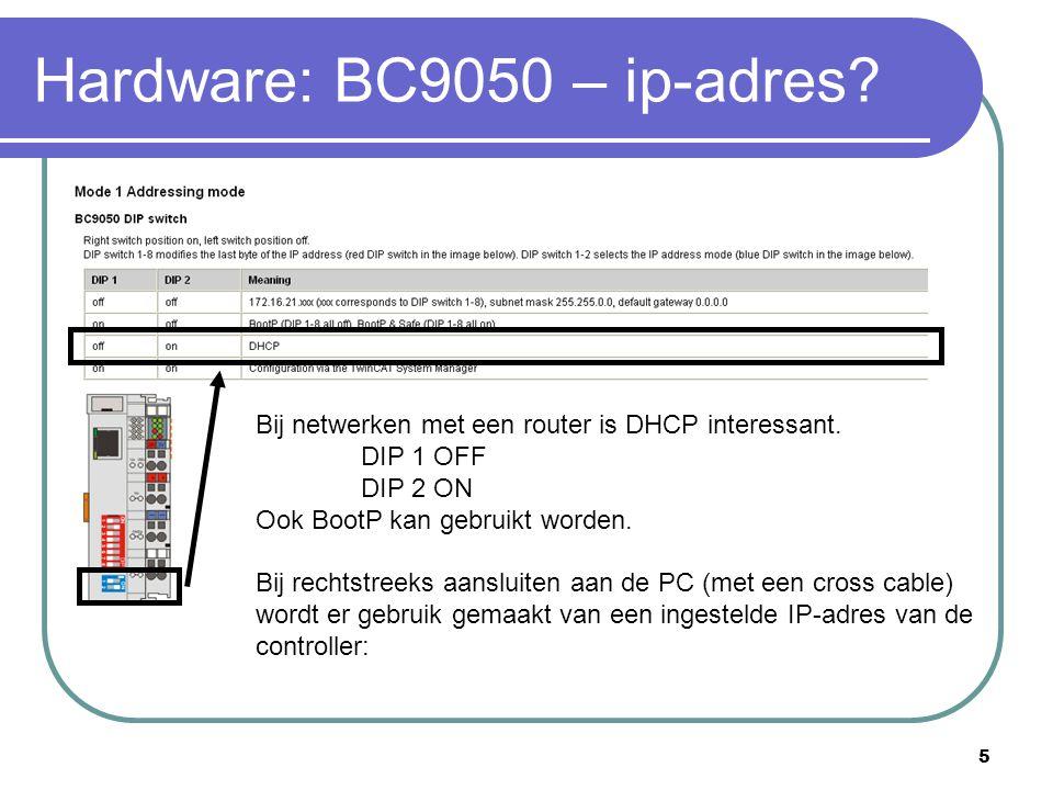 Hardware: BC9050 – ip-adres