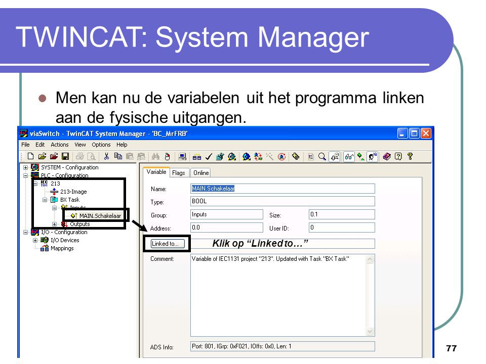 TWINCAT: System Manager