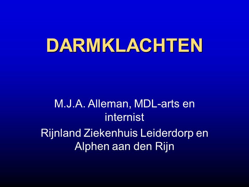 DARMKLACHTEN M.J.A. Alleman, MDL-arts en internist