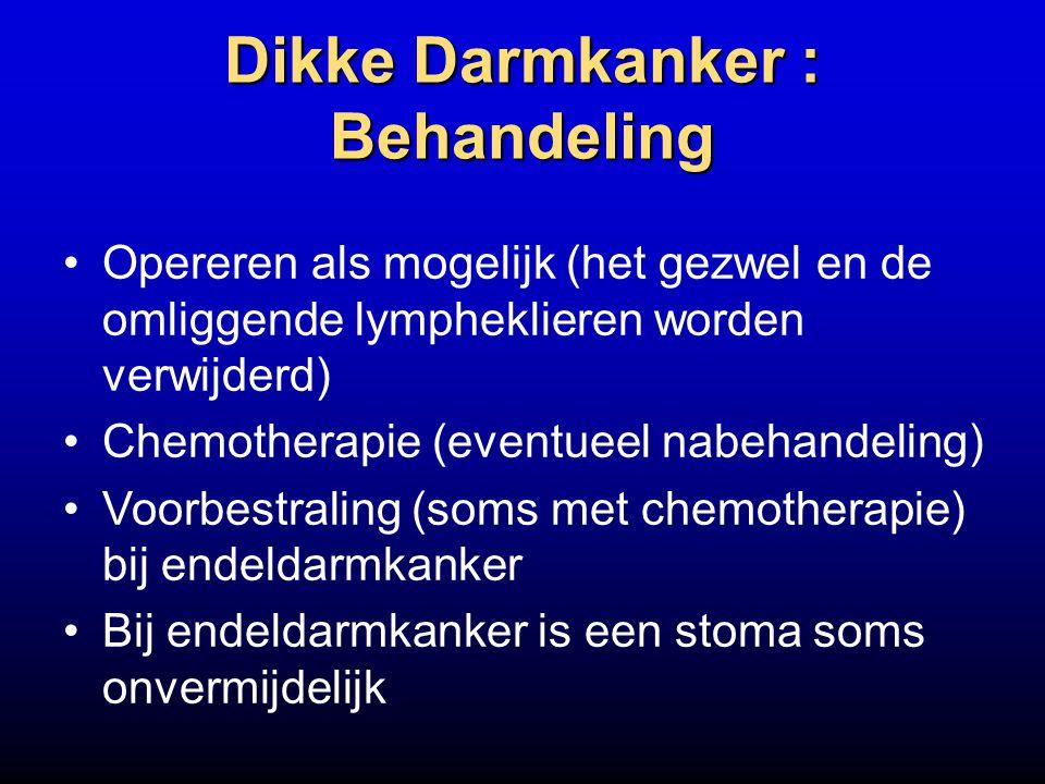 Dikke Darmkanker : Behandeling