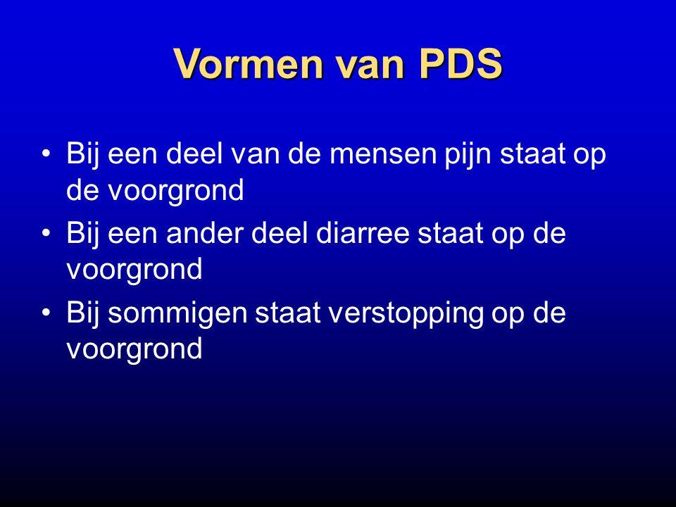 Vormen van PDS Bij een deel van de mensen pijn staat op de voorgrond