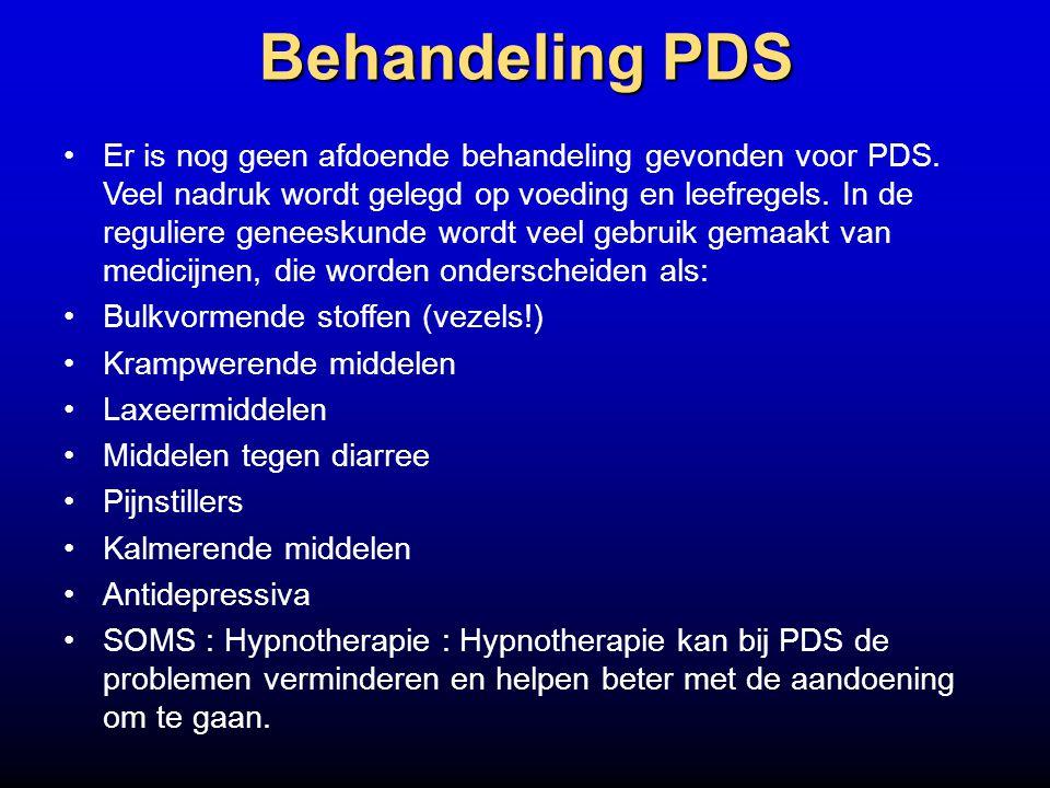 Behandeling PDS