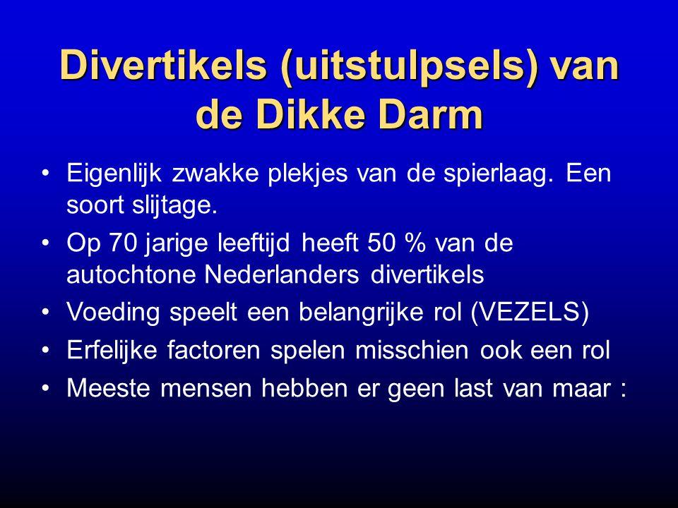 Divertikels (uitstulpsels) van de Dikke Darm