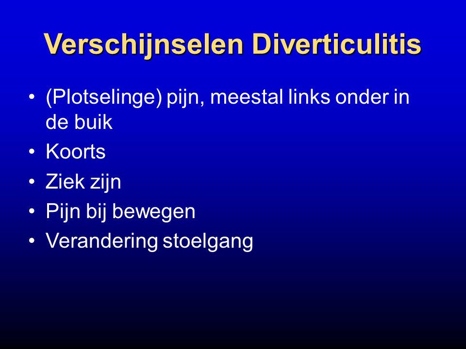 Verschijnselen Diverticulitis