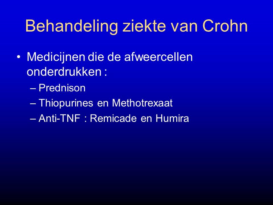 Behandeling ziekte van Crohn