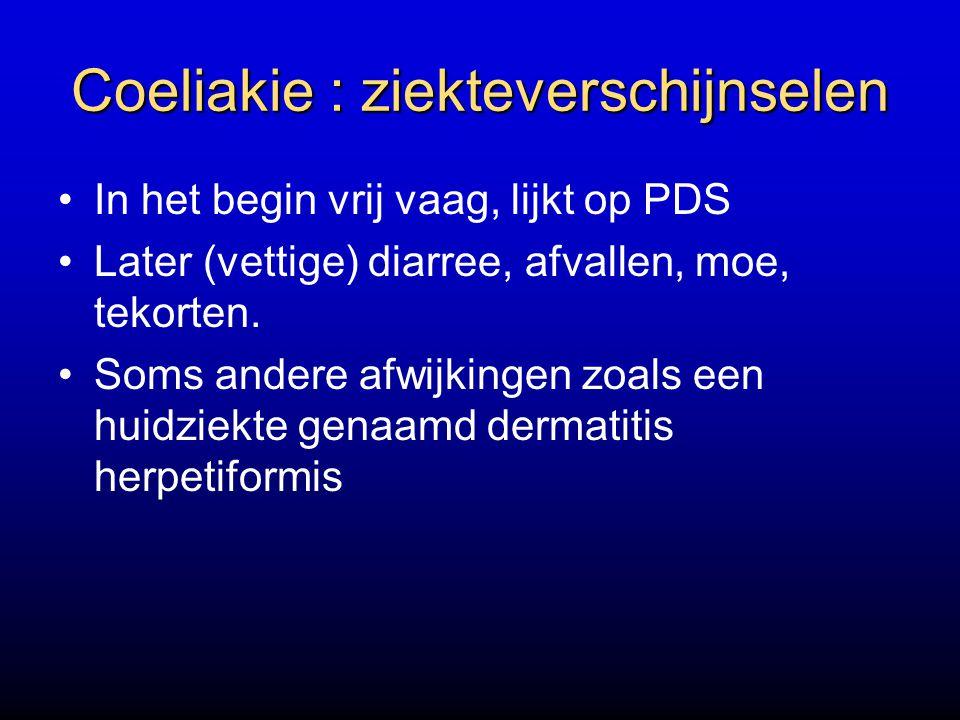 Coeliakie : ziekteverschijnselen