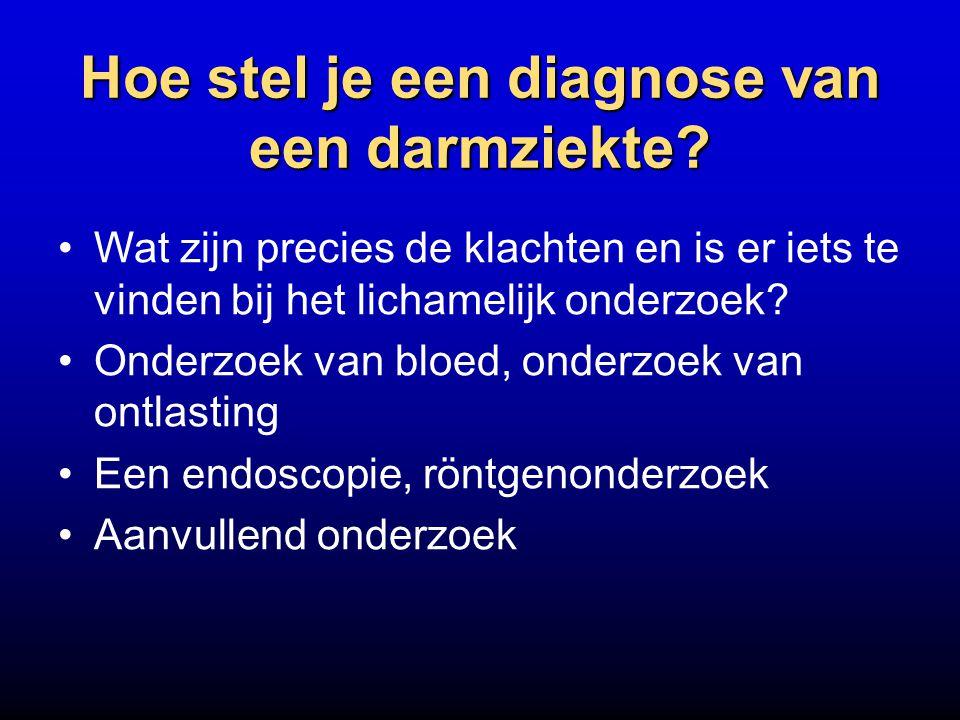 Hoe stel je een diagnose van een darmziekte