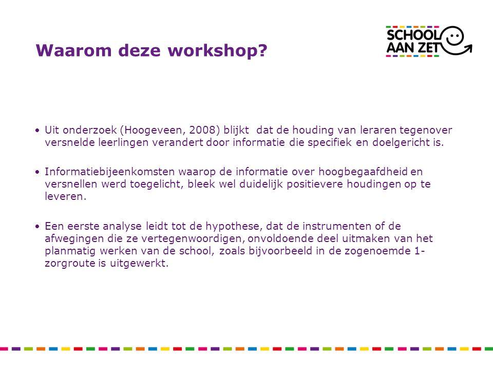 Waarom deze workshop