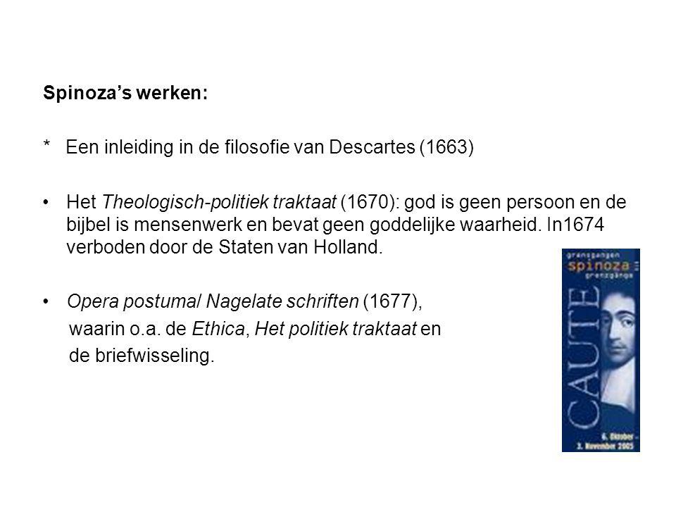 Spinoza's werken: * Een inleiding in de filosofie van Descartes (1663)