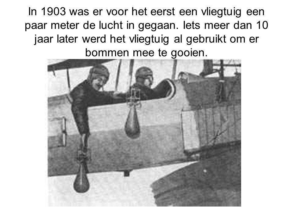 In 1903 was er voor het eerst een vliegtuig een paar meter de lucht in gegaan.