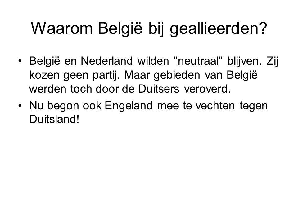 Waarom België bij geallieerden