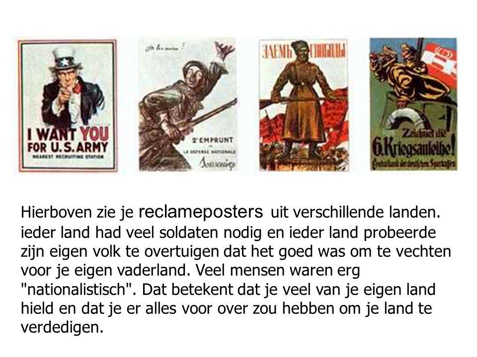 Hierboven zie je reclameposters uit verschillende landen