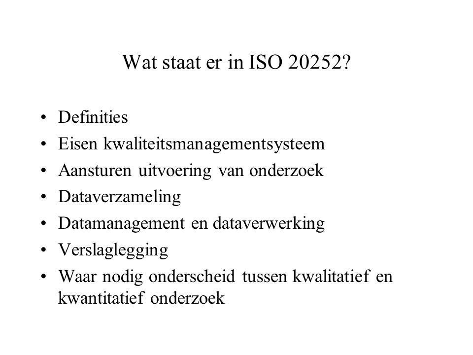Wat staat er in ISO 20252 Definities