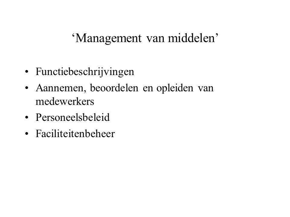 'Management van middelen'
