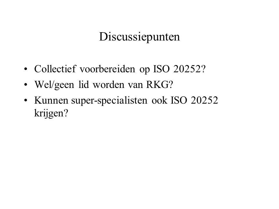 Discussiepunten Collectief voorbereiden op ISO 20252