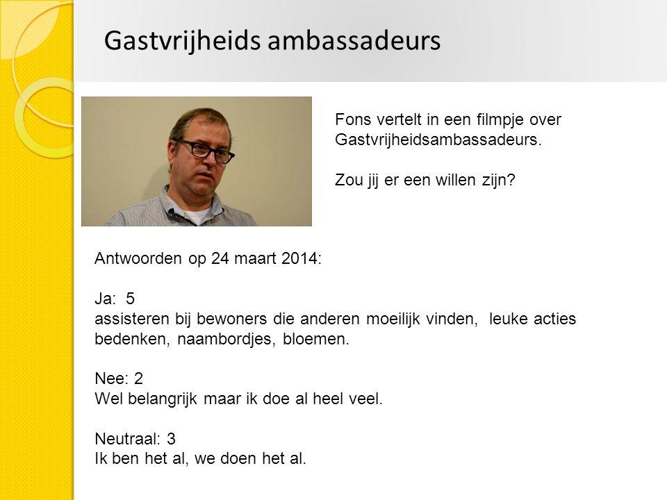Gastvrijheids ambassadeurs