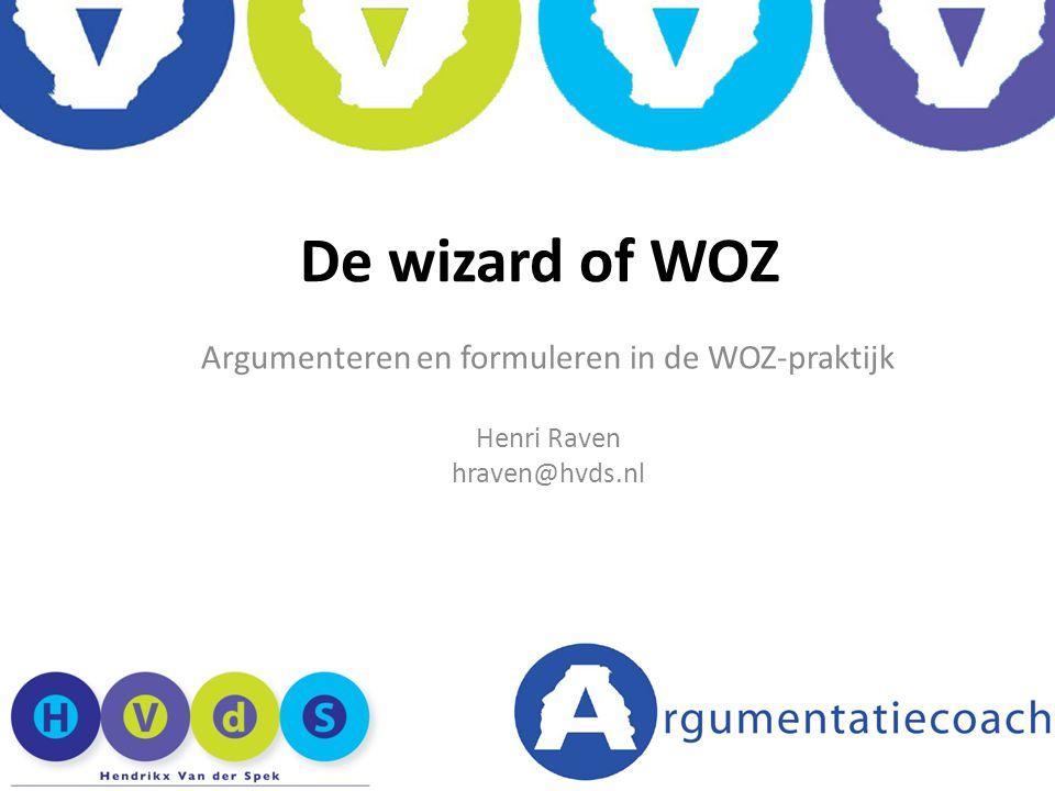 Argumenteren en formuleren in de WOZ-praktijk