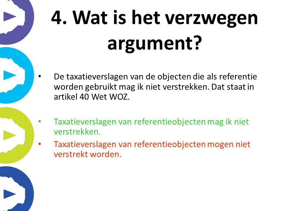4. Wat is het verzwegen argument